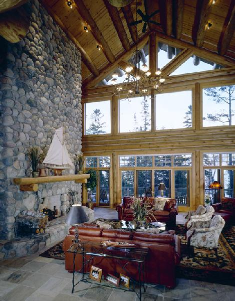 Eagle 39 s nest custom handcrafted log homes by maple for Eagle nest home designs