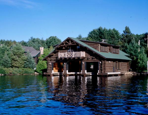 Lake Placid Boathouse Custom Handcrafted Log Homes By