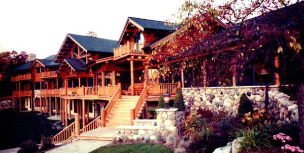 Exteriors Custom Handcrafted Log Homes Maple Island