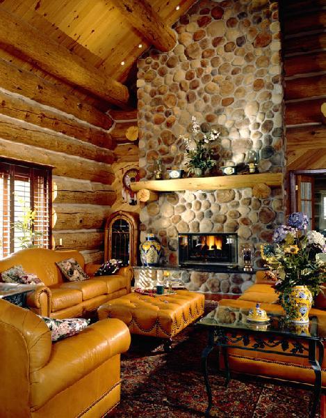 Interiors Custom Handcrafted Log Homes Maple Island